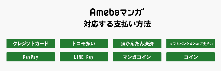 Amebaマンガの支払い方法